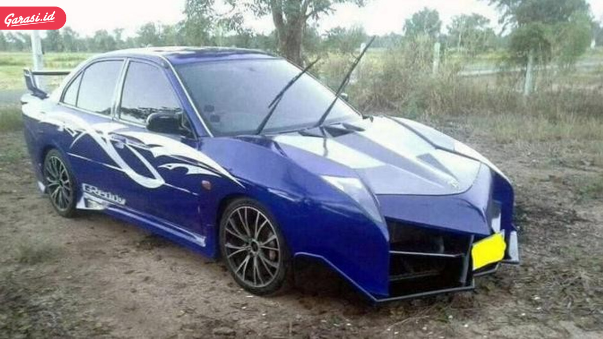 Ketika Mitsubishi Lancer 'Kawin' Dengan Lamborghini
