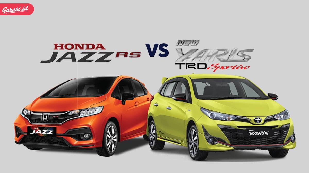 Komparasi Mobil Pre-Owned Toyota Yaris TRD dan Honda Jazz RS