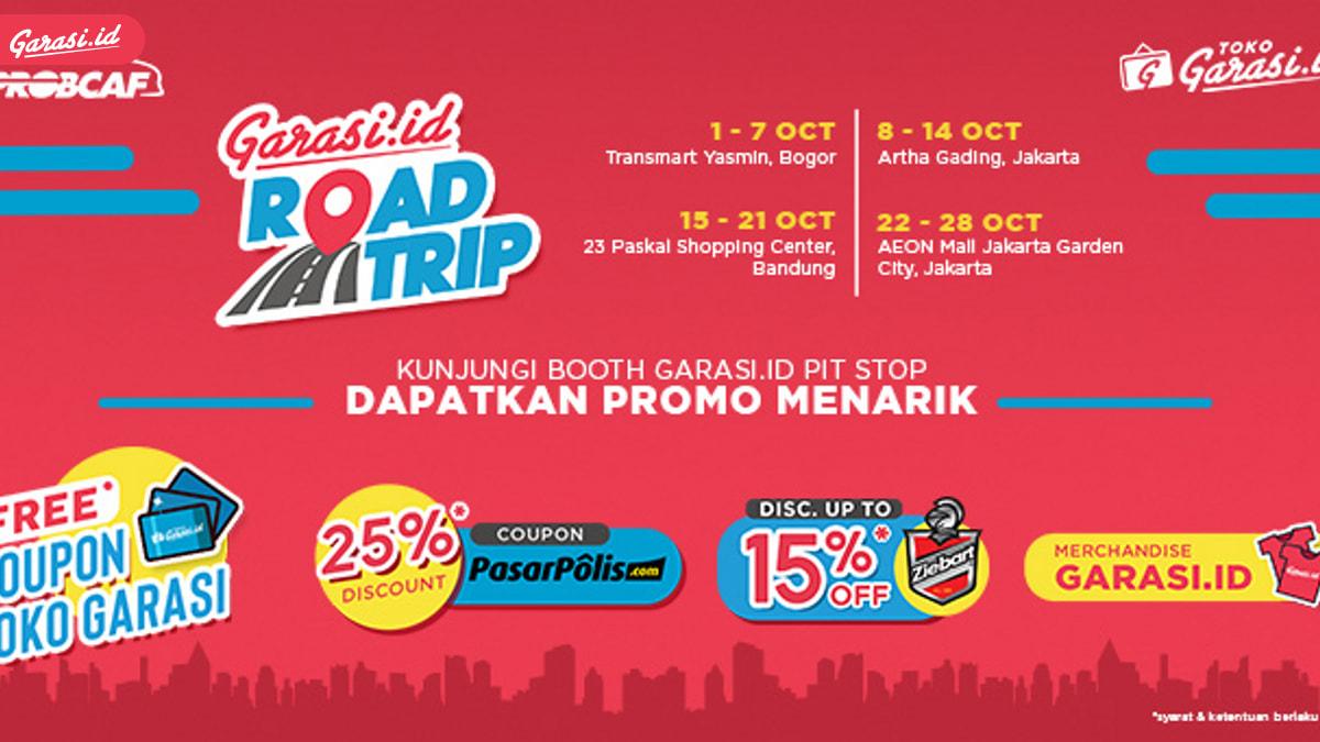 Di PROBCAF, Sahabat Bisa Ikut Promo Garasi.id Road Trip