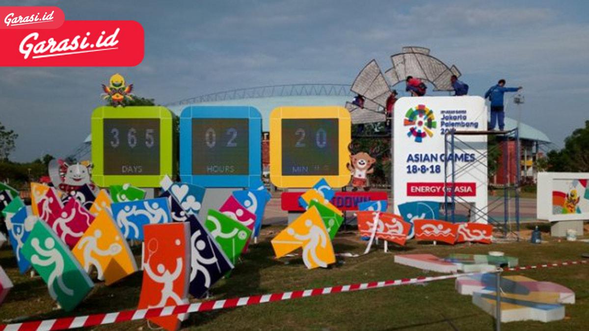Jelang Asian Games Separator Jalan Menjadi Warna-Warni, Apakah Menyalahi Aturan?