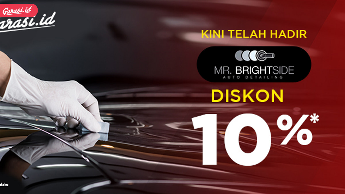 Diskon 10% Detailing Mobil dan Coating Mobil di Garasi.id bersama Mr. Brightside Auto Detailing