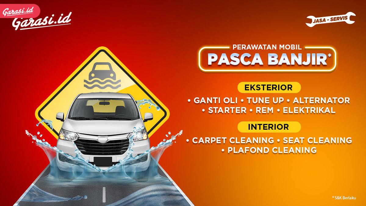 Mobil Terendam Banjir?! Begini Cara Penanggulangannya