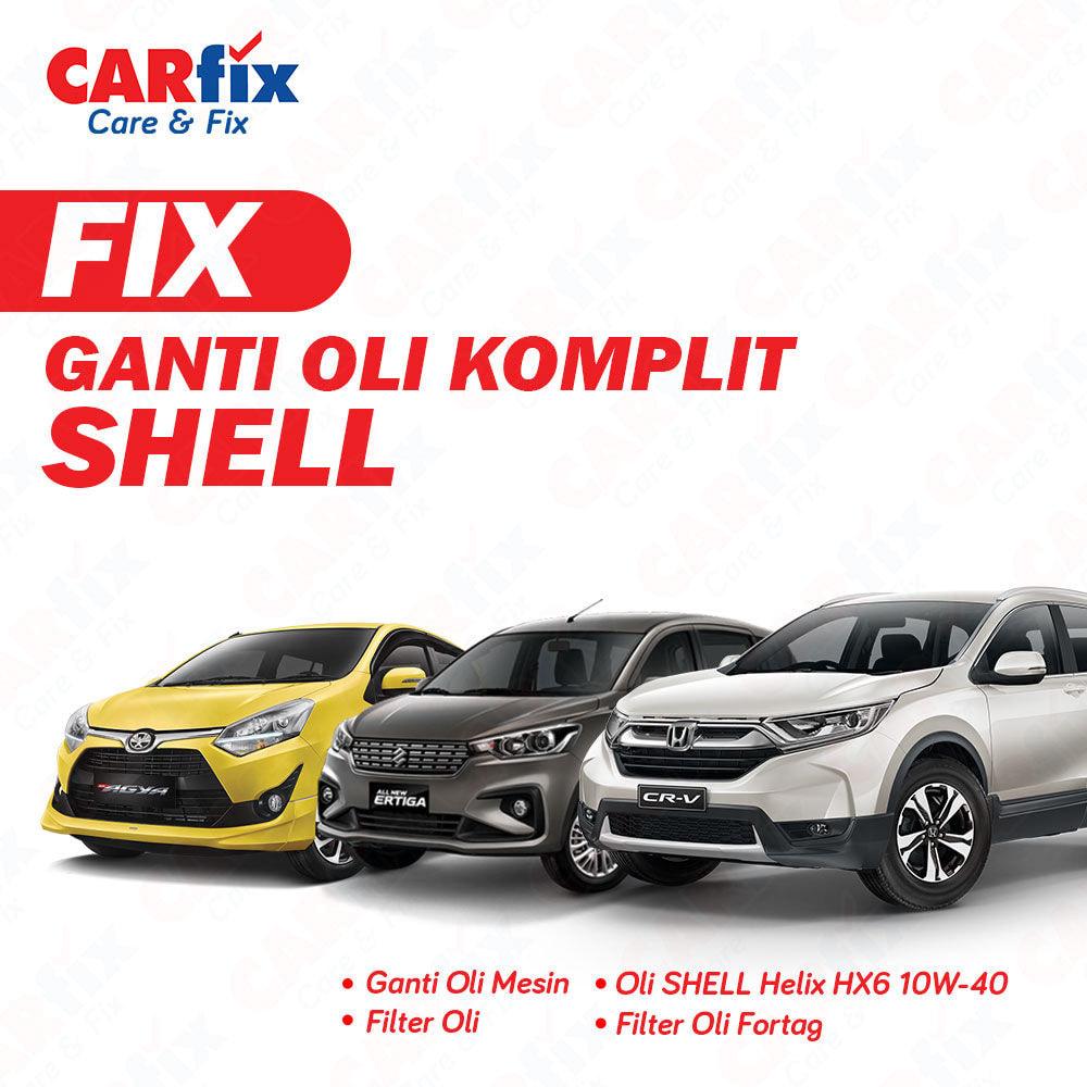 Ganti Oli Komplit Shell - Jateng+DIY