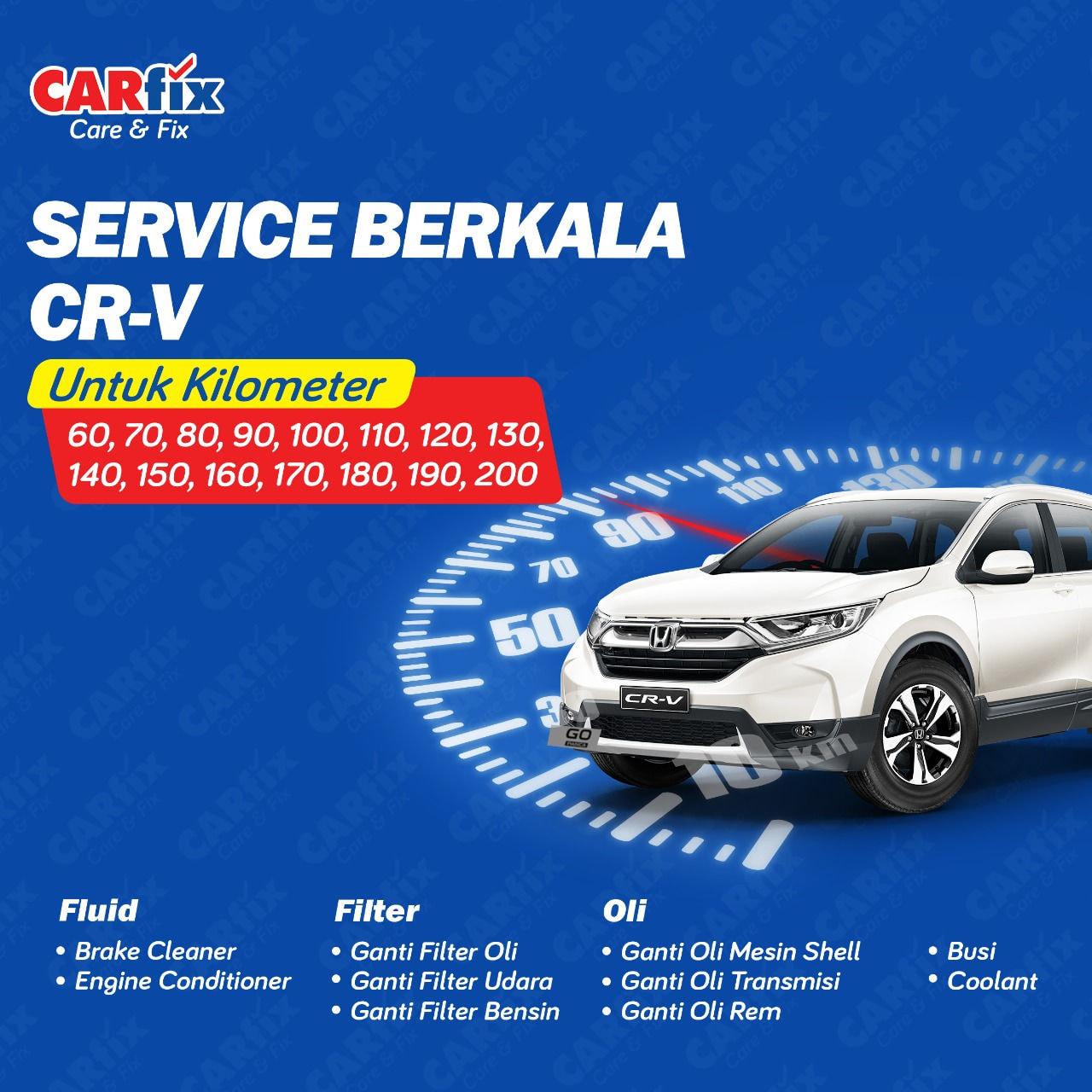 Paket Service Berkala Honda CRV A/T - Jateng+DIY