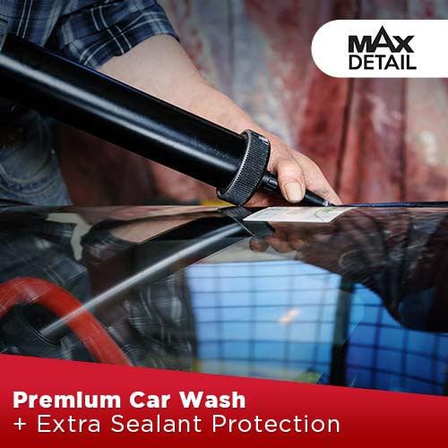 Premium Car Wash + Extra Sealant Protection