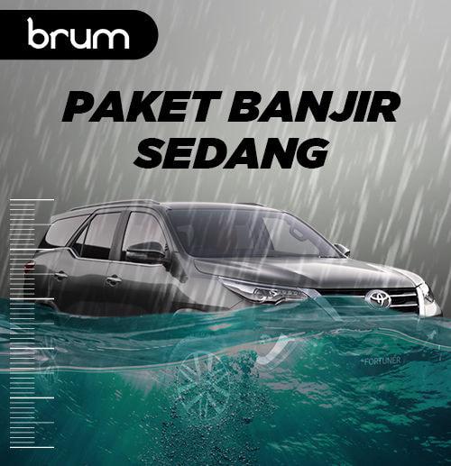 Paket Banjir SEDANG (Terendam di Atas Jok)