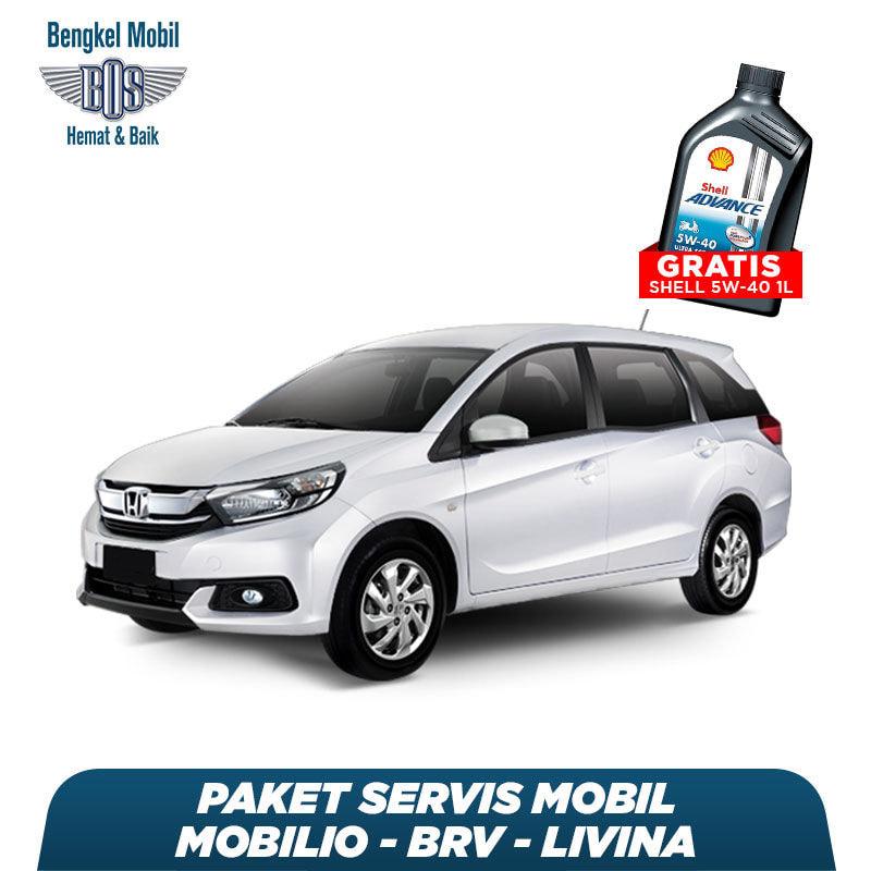 Paket Servis Mobil Mobilio/BRV/Livina Gratis Oli Shell 1 Liter HX7 5W - 40