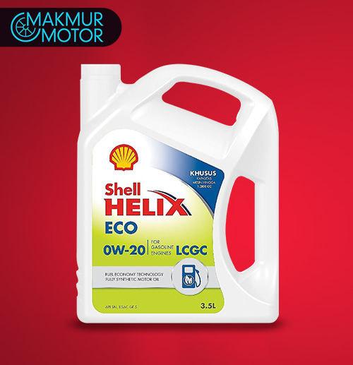Ganti Oli 3,5 Liter - Shell Eco 0W20 Full Synthetic (Jakarta)