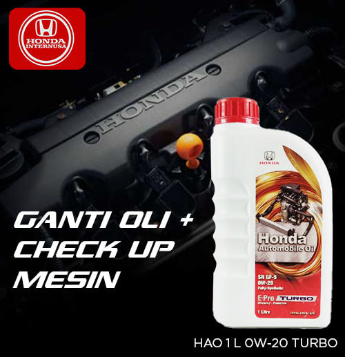 Ganti Oli HAO Green 0W-20 Turbo dan Check Up Mesin