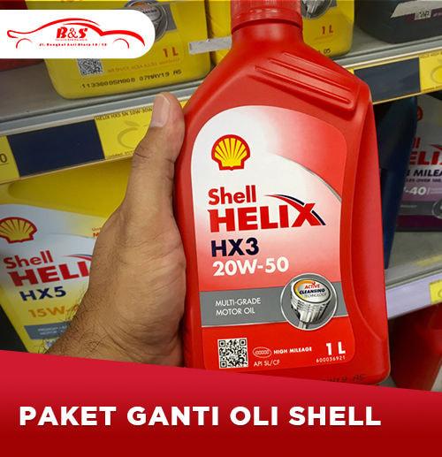 Ganti Oli Shell 4 liter (Surabaya)