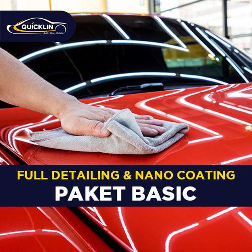 Full Detailing & Nano Coating (Paket Basic)