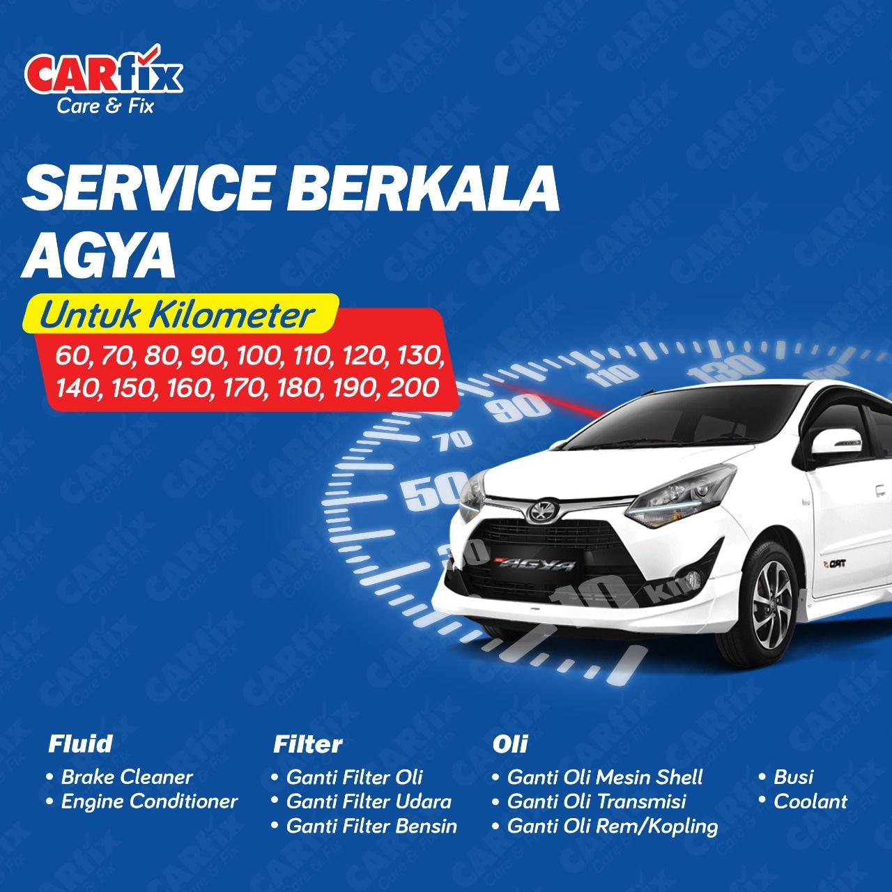 Paket Service Berkala Agya Manual  - Jabodetabek