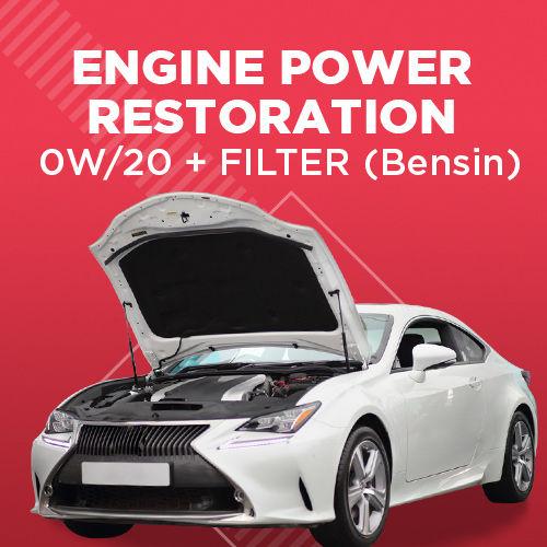 Engine Power Restoration + Oli 0W/20 (up to 4 Liter)