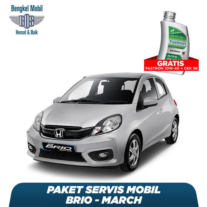 Paket Servis Mobil Brio/March Gratis Oli Fastron 1 Liter Techno 10W-40