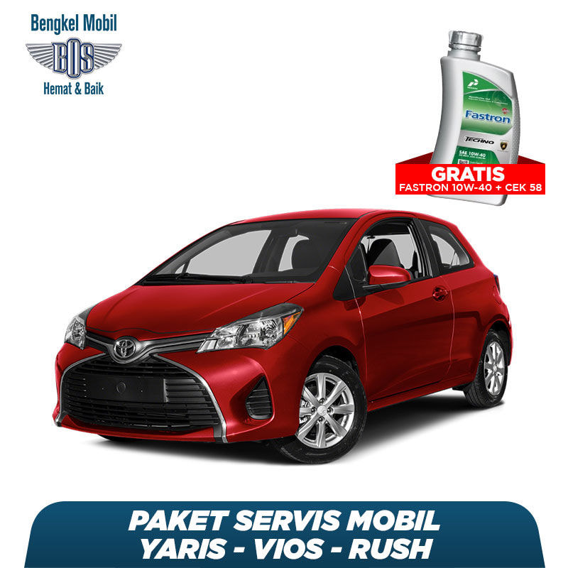 Paket Servis Mobil Yaris/Vios/Rush Gratis Oli Fastron 1 Liter Techno 10W-40