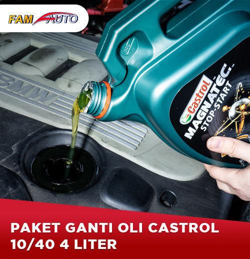 Paket Ganti Oli Castrol 10/40 4 Liter