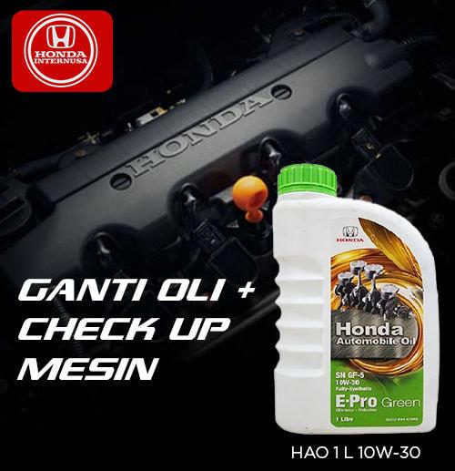 Ganti Oli HAO Green 10W-30 dan Check Up Mesin