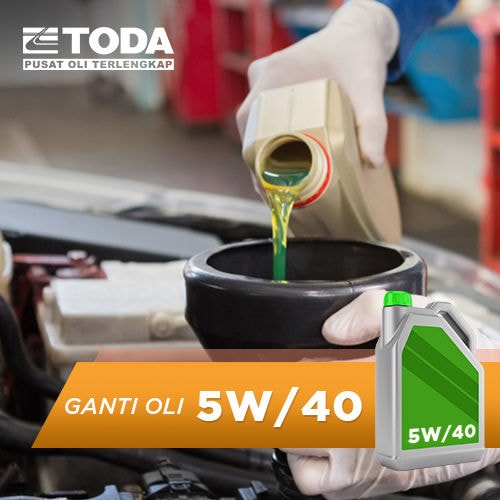 Paket Ganti Oli 4 Liter - 5W/40