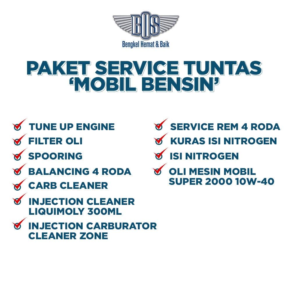Paket Service Tuntas Mobil Bensin