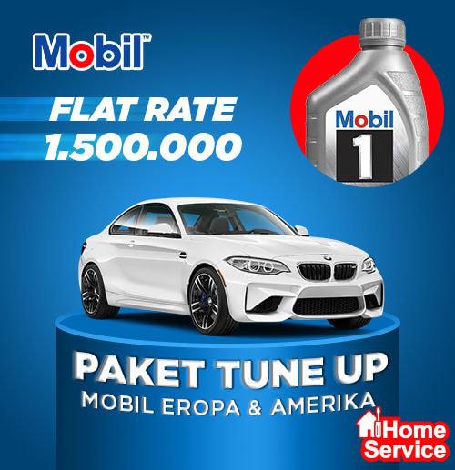 Flat Price - Ganti Oli + Tune Up Mobil Bensin [Mobil1 5W-30]