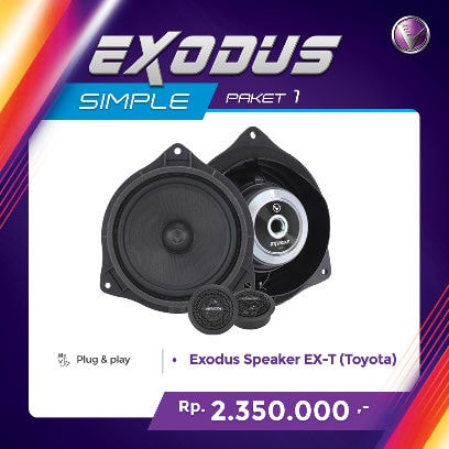 Venom Oem Exodus EX-T Speaker Mobil for Toyota [2 Way]