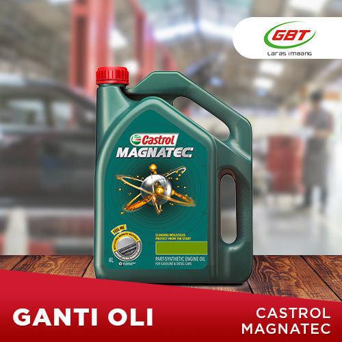 Paket Ganti Oli Castrol Magnatec 5W30 (bensin)