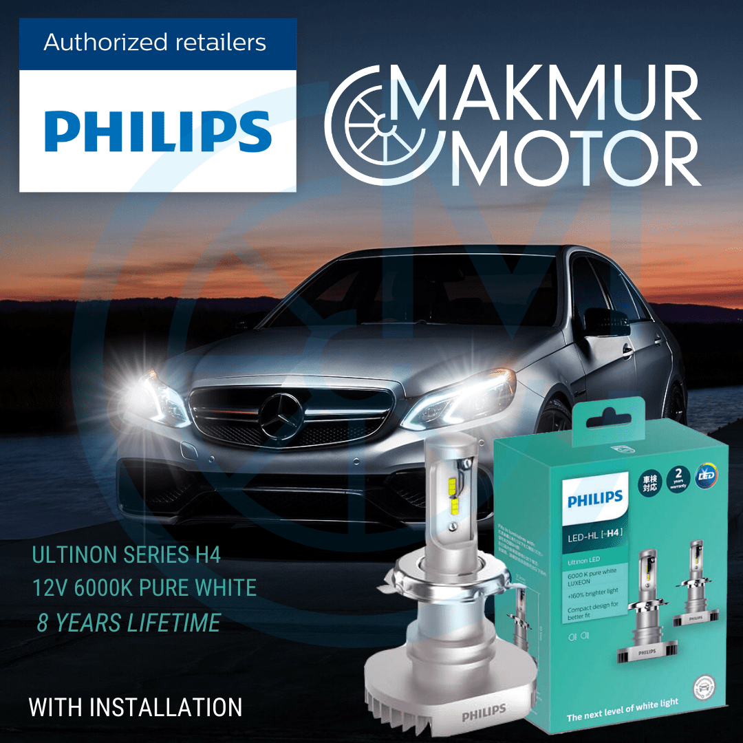 Philips Ultinon LED Bohlam Lampu Mobil (Garansi 12 Bulan)