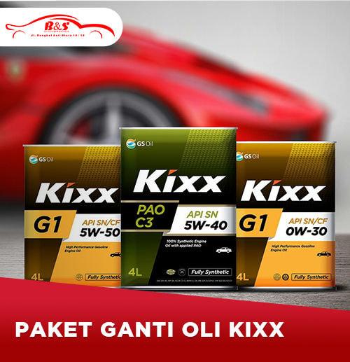 Ganti Oli KIXX 4 liter (Surabaya)