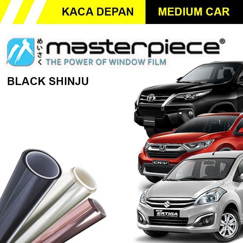 Masterpiece Black Shinju Kaca Film Mobil for Medium Car [Original/ Kaca Depan]