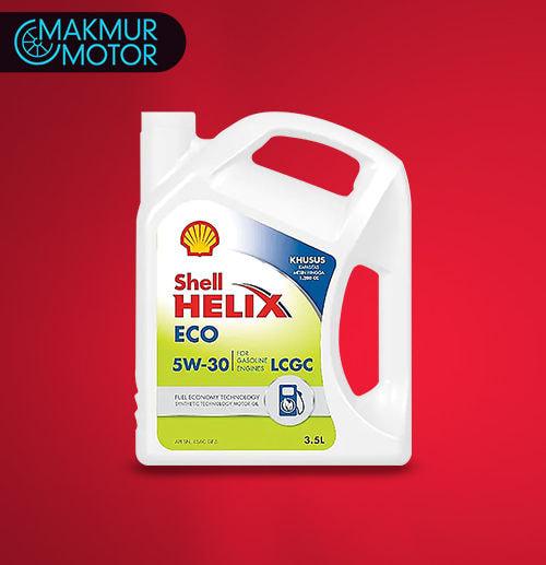 Ganti Oli 3,5 Liter - Shell Eco 5W30 Synthetic (Jakarta)
