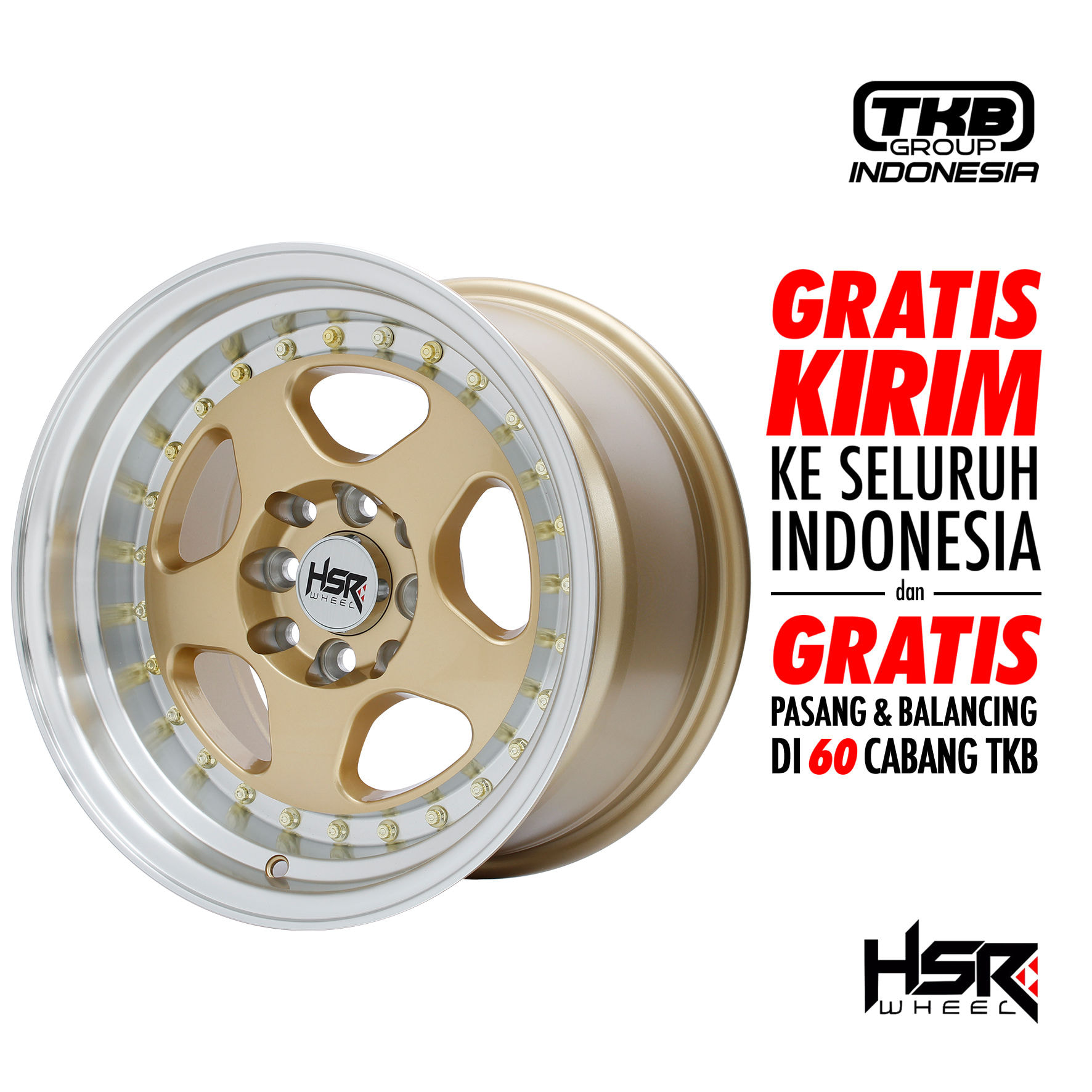 Velg Mobil Grand Livina HSR BURN H1569 R15 [LIMITED]