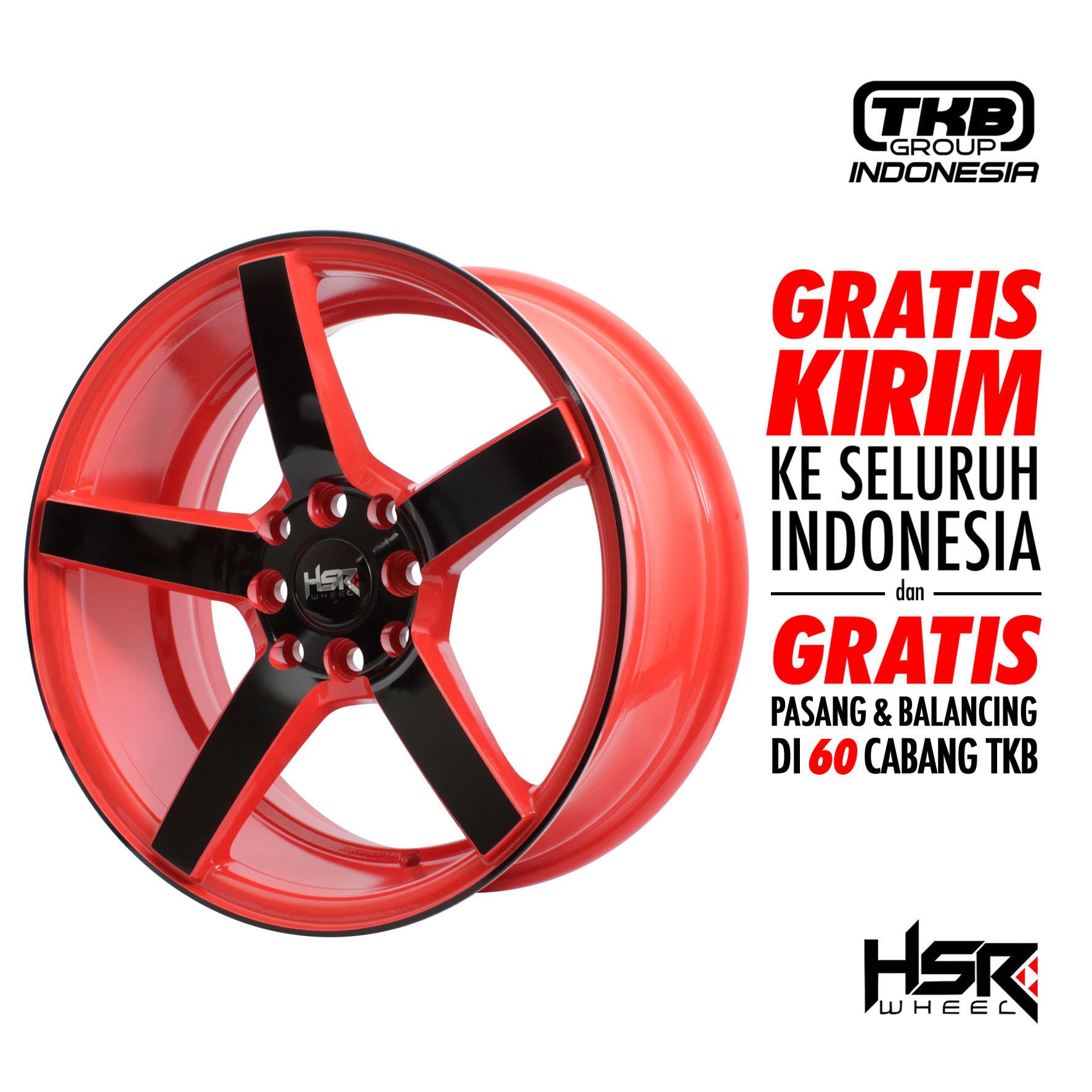 Velg Mobil Ring 16 HSR NE3 JD265 - PCD H8X100-114,3 ET30 RED/BLACK F
