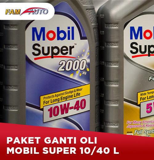 Paket Ganti Oli Mobil Super 10/40 4 Liter