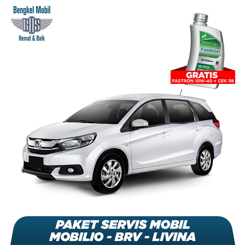 Paket Servis Mobil Mobilio/BRV/Livina Gratis Oli Fastron 1 Liter Techno 10W-40