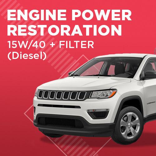 Engine Power Restoration + Oli 15W/40 Diesel (up to 4 Liter)
