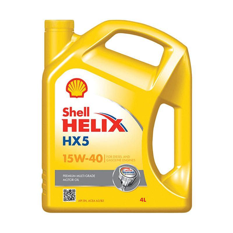 Shell HX 5 15W-40 Oli Pelumas Mobil [4 L] Pasang di Tangerang