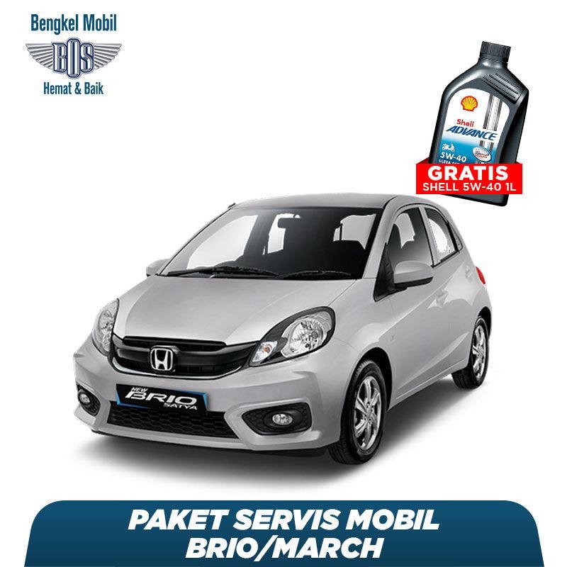 Paket Servis Mobil Brio/March Gratis Oli Shell 1 Liter HX7 5W - 40