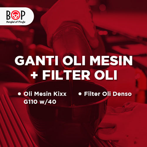 Ganti Oli Mesin + Filter Oli