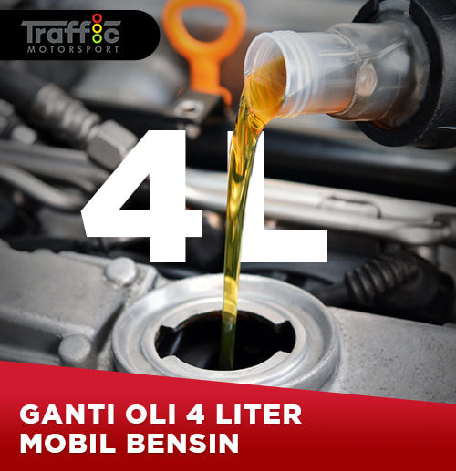 Paket Ganti Oli Mobil Bensin 4 Liter -  (Area Surabaya)
