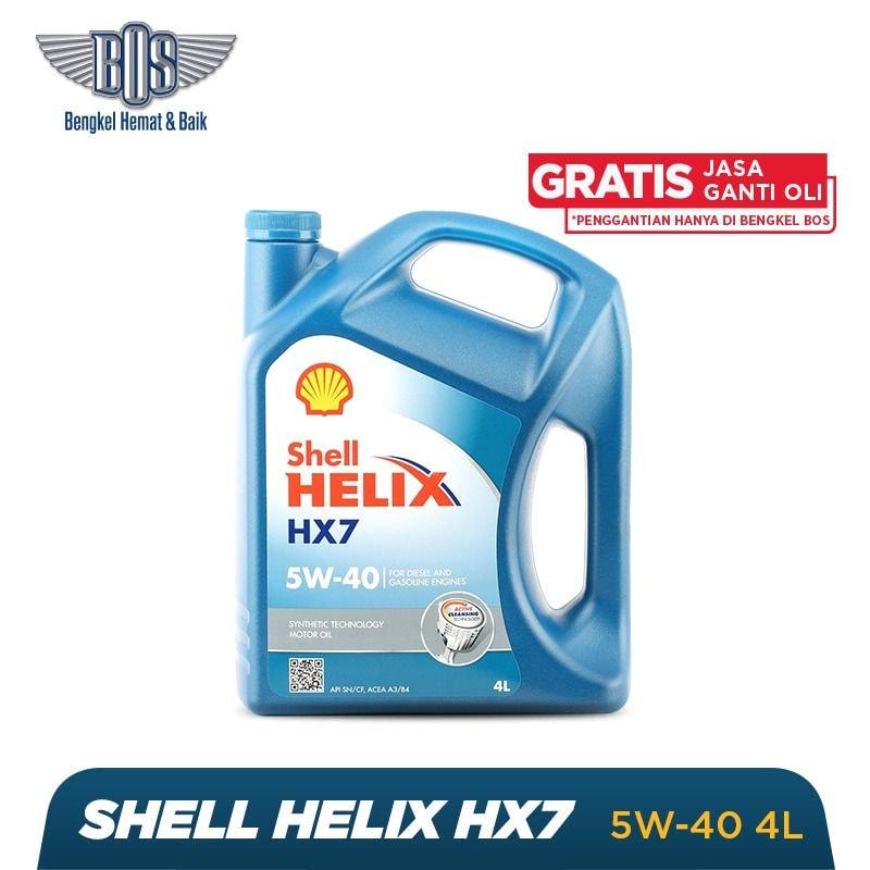 Paket Ganti Oli Shell (4 Liter) + Gratis Jasa