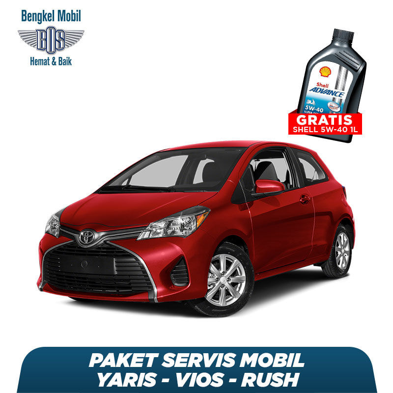 Paket Servis Mobil Yaris/Vios/Rush Gratis Oli Shell 1 Liter HX7 5W - 40