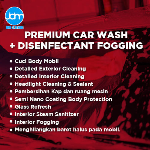 Premium Car Wash + Disinfectant Fogging