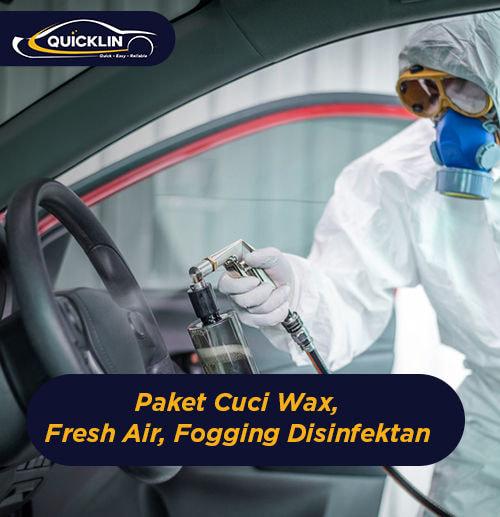 Paket Cuci Wax, Fresh Air, Fogging Disinfektan