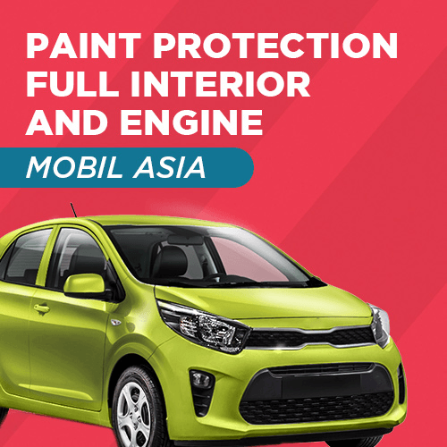 Home Service - Paint Protection Full Interior and Engine - Mobil Asia