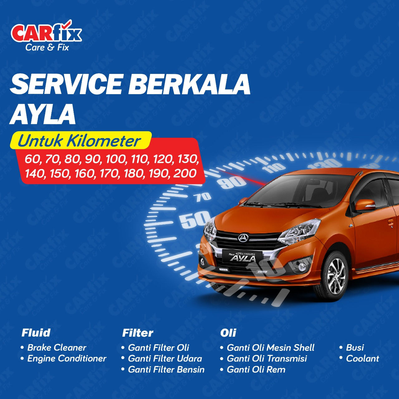 Paket Service Berkala Ayla Manual  - Jateng+DIY