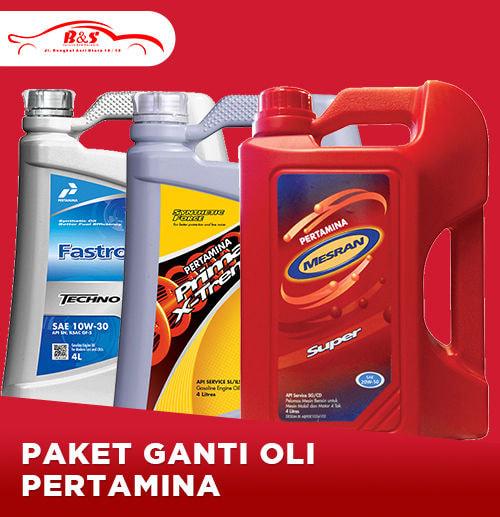 Paket Ganti Oli Mobil  Pertamina (Area Surabaya)