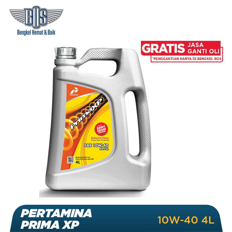 Paket Ganti Oli Pertamina (4 Liter) + Gratis Jasa