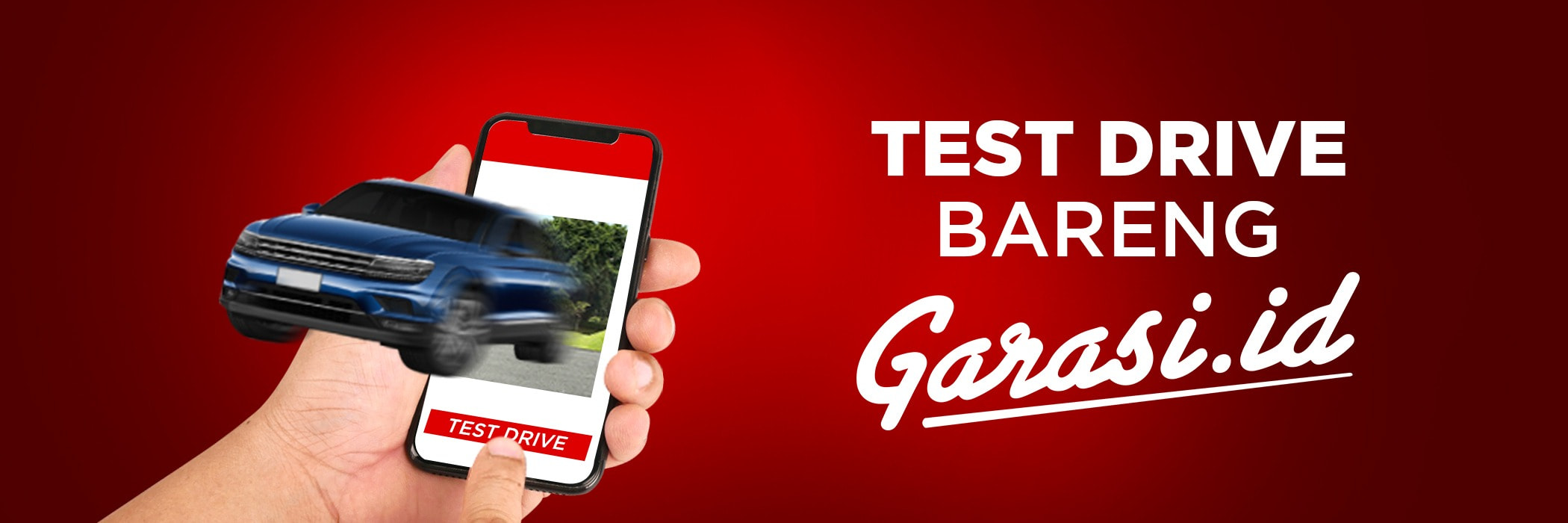 test drive landing page - Mobile