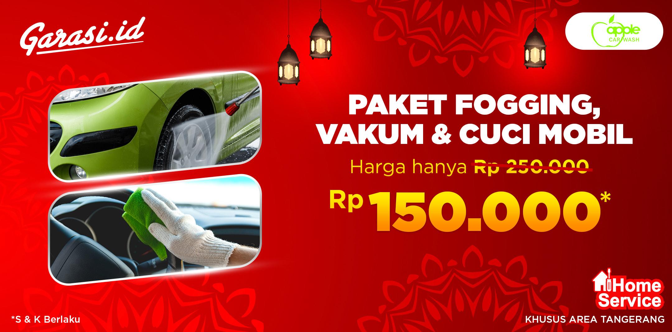 Jasa Fogging + Vacum Interior + Car Wash (Home Service Area Tangerang)