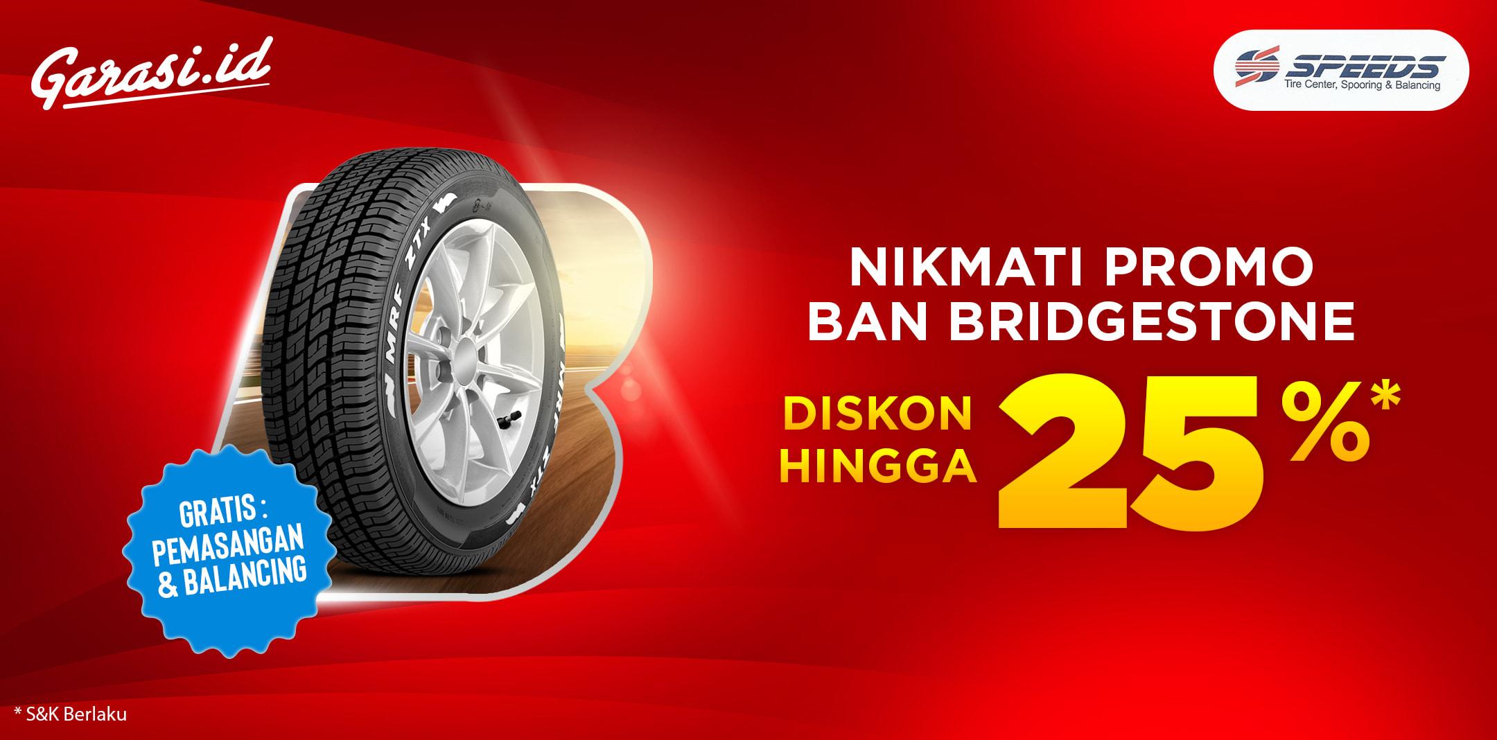 Nikmati Promo Beli Ban Bridgestone